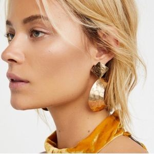 {free people} gold colored crescent moon earrings